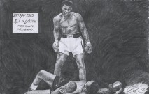 Ali v Liston (graphite pencil)