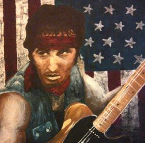 Bruce Springsteen (oil on canvas)