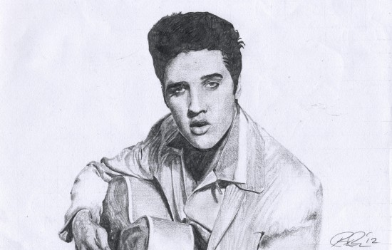 Elvis Presley (graphite pencil)