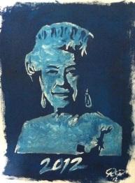 Queen Elizabeth II (oil on canvas)