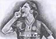 Zlatan Ibrahimovic (graphite pencil)
